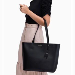 New Black Kate Spade Leather Tote ($329 Retail)